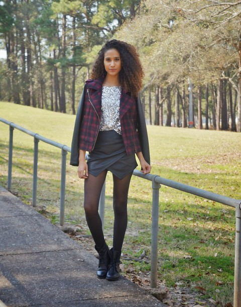 clothes to homme blogger jacket skorts sequins