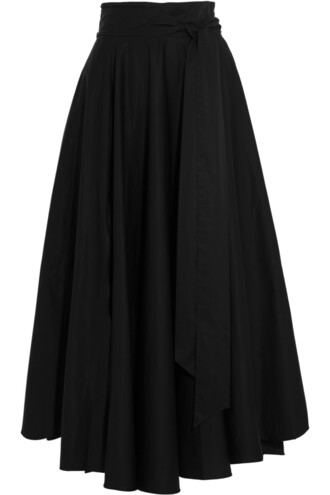 skirt maxi skirt maxi cotton black