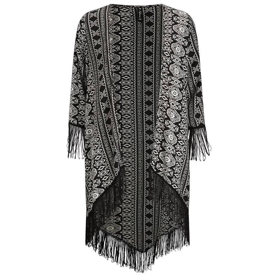 Influence Women's Aztec Tassel Kimono - Black Womens Clothing | TheHut.com