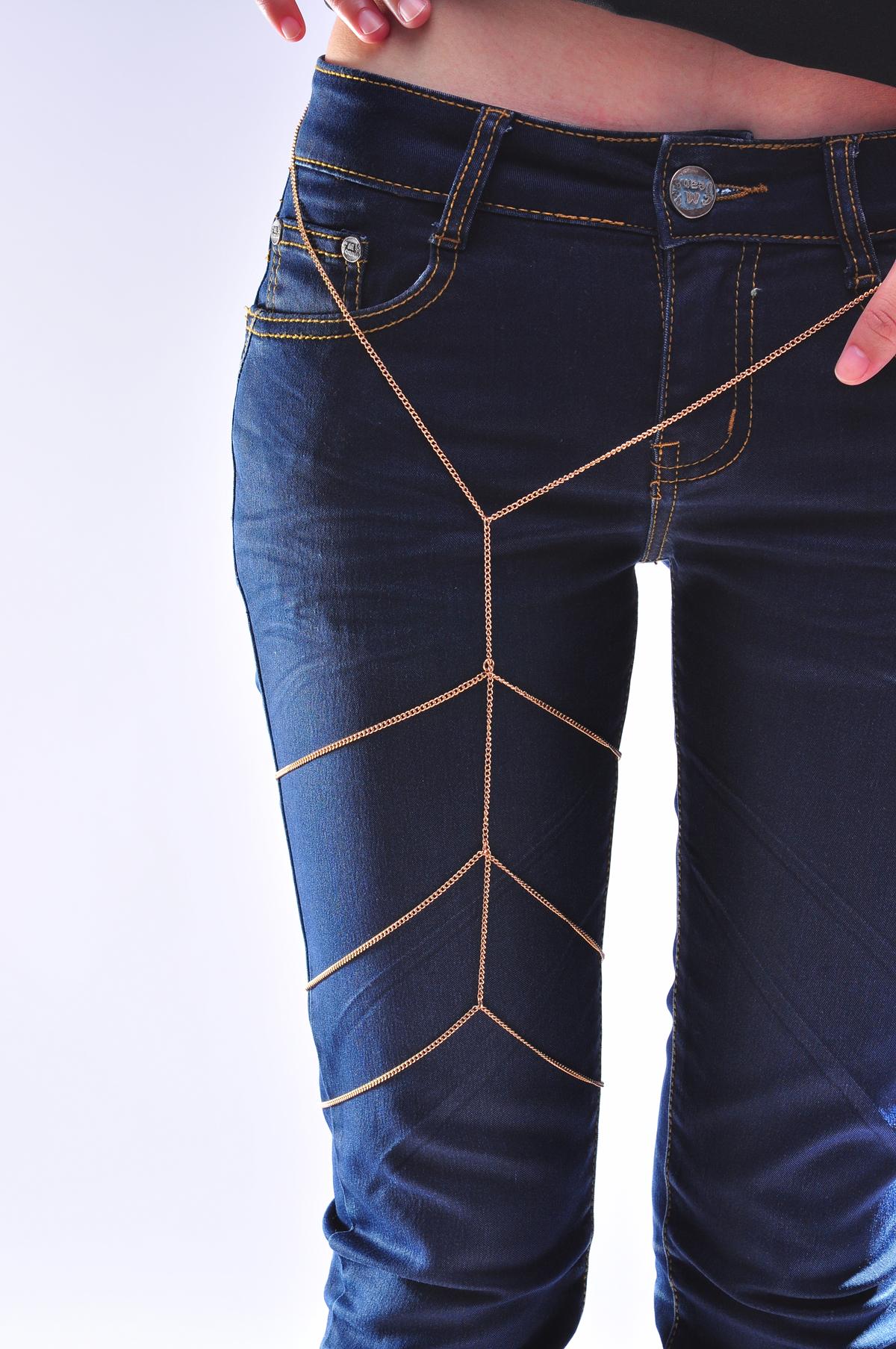 Women Sexy Leg Chain Multi Thigh Armor Waist Body Belly Chain Harness Jewellery | eBay