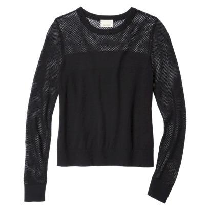 AMBAR Women's Mesh Sweater - Ebony : Target