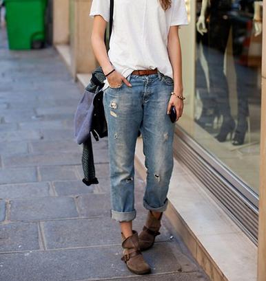 Worn 420 Boyfriend Jeans - Arad Denim