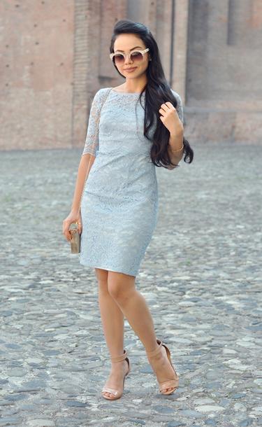 zebratrash blogger dress make-up sunglasses