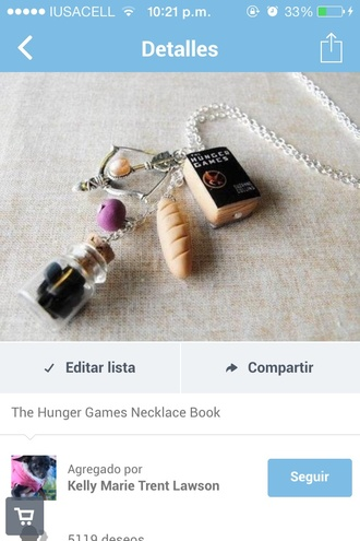 jewels necklace the hunger games berries bread katniss peeta night berry lock