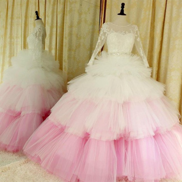 Blush Or Ivory Wedding Dresses : Dress ivory and blush ombr? wedding dresses ball gown