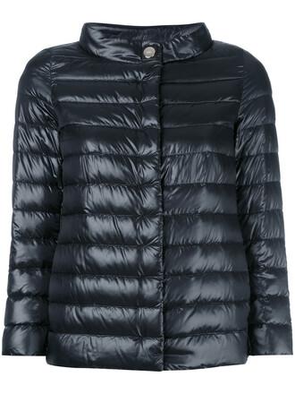 jacket puffer jacket high women high neck cotton black