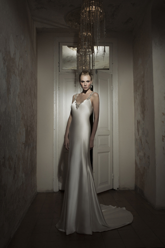 dress sweep train wedding dress satin wedding dress
