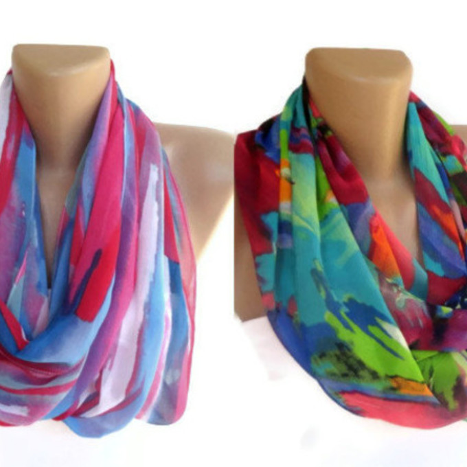 scarf blue scarf girly etsy gift ideas gift infinity scarf infinity scarves eternity scarf loop scarf circle scarf womens wholesale neon trendy trending fabric handmade cowl neon red pink scarf all cute outfits two piece chevron stripes colorful prints cowl neck tropical print neon green neon pink woman scarf red