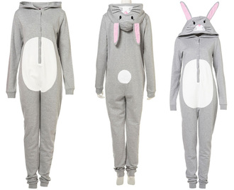 dress pajamas bunny onesie warm winter outfits holiday gift