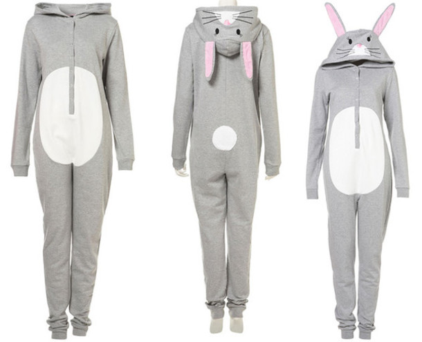97f2037c372c dress pajamas bunny onesie warm winter outfits holiday gift