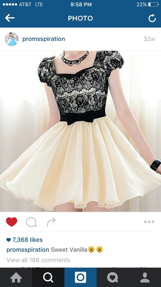 dress back lace cream short homecoming dress