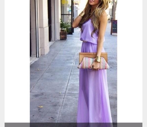 dress lavender maxi dress