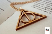 jewels,harry potter and the deathly hallows,harry potter,pure lovers,necklace,gold,ring