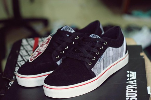 hip-hop shoes black vans swag