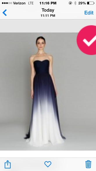 dress ombré blue and white