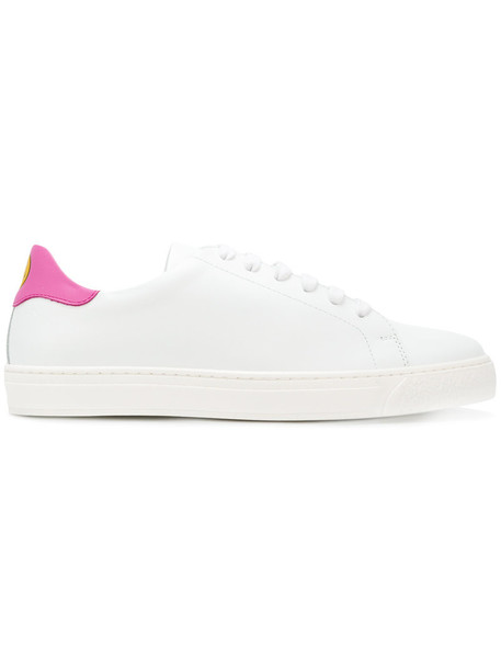 Anya Hindmarch women sneakers leather white shoes