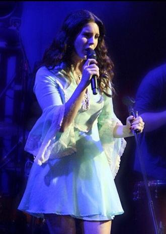 dress mint lana del rey lace dress long sleeve dress bell sleeves bell sleeve dress mint dress