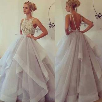 dress romantic prom fashion open back tulle dress homecoming dress vanessawu
