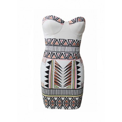 Geometric bodycon dress