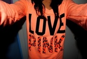 sweater,victoria's secret,pink,orange shirt