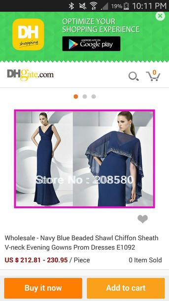 scarf ciffon navy beaded beaded rectangle prom dress shawl hijab