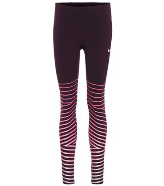Nike leggings printed leggings purple pants