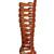 Xena Gladiator Heels - Cognac (PRE-ORDER) | Klassiq