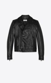 jacket,saint laurent,yves saint laurent,leather jacket,biker jacket,black jacket,black leather jacket,black leather,vintage,leather,luxury,women,black,outerwear,street