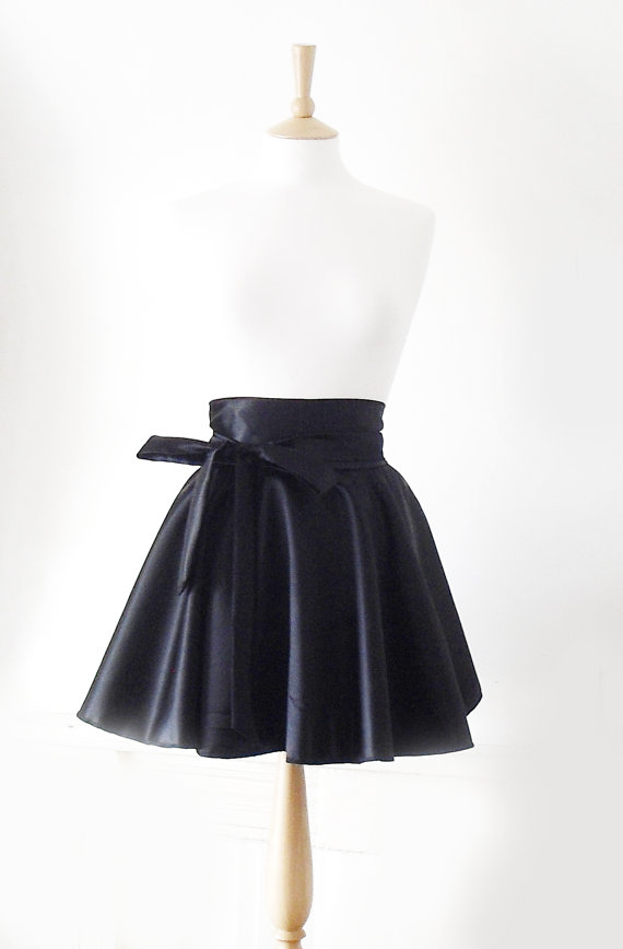 High Waisted Circle Skirt