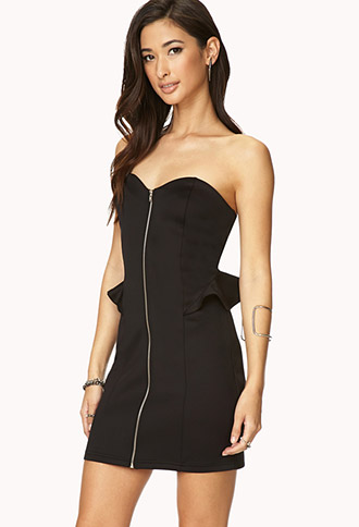 Rebel Girl Zippered Bodycon Dress | FOREVER21 - 2000073027