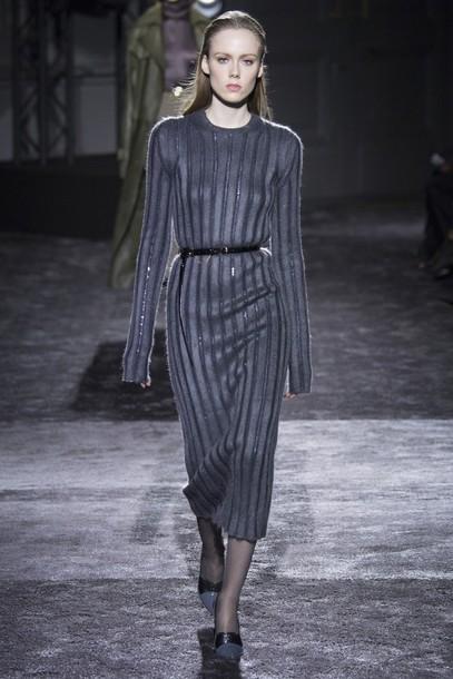 615977fa6a32 dress knitwear knitted dress nina ricci winter dress midi dress fashion  week 2016 paris fashion week