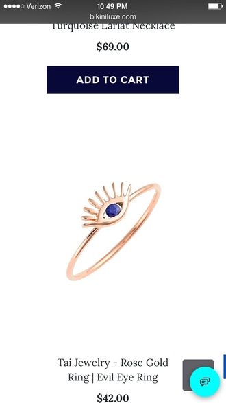 jewels rose gold rose gold ring knuckle ring stackable rings tai tai jewelry evil eye evil eye ring evil eye jewelry