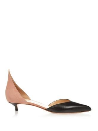 suede pumps pumps leather suede nude black shoes