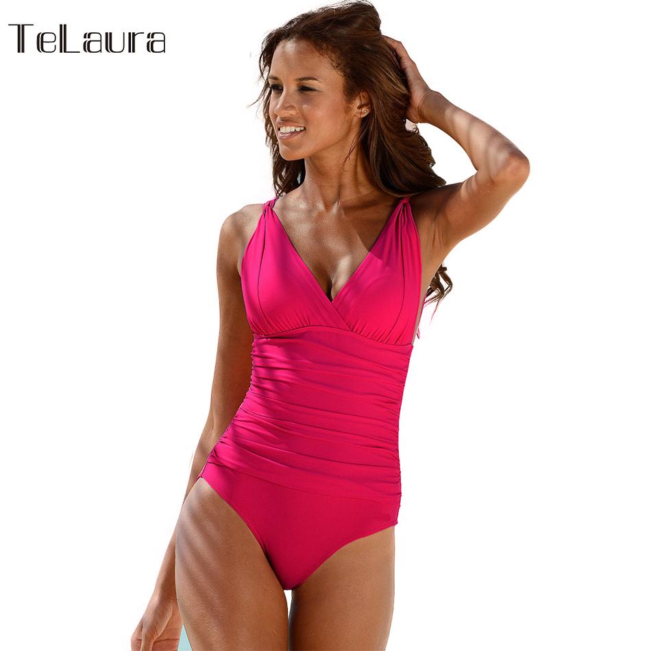 Aliexpress.com   Buy One Piece Swimsuit 2016 Swimwear Women Push Up  Monokini Pin Up Bodysuit Plus Size Beach Wear Maillot de Bain Femme S 3XL  from Reliable ... 59533d4aa59