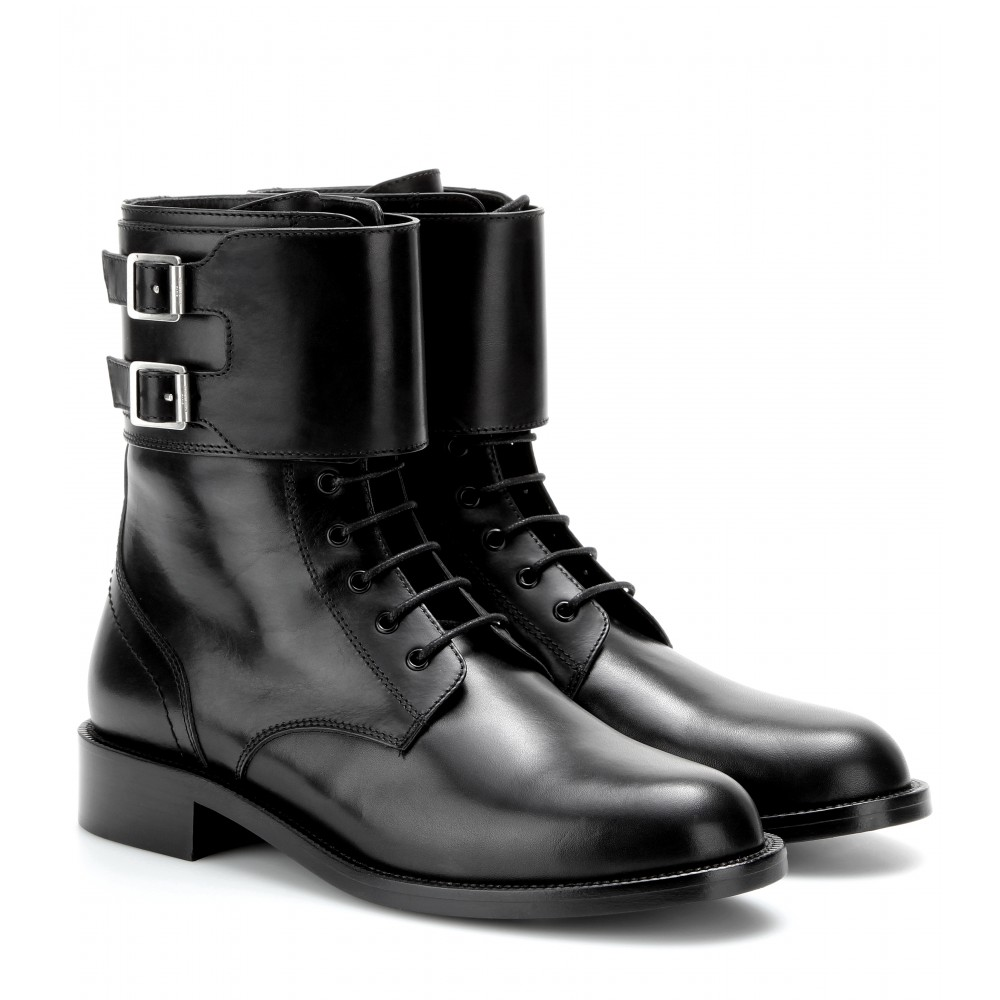 mytheresa.com - Patti leather boots - Flat - Boots - Shoes - Luxury Fashion for Women / Designer clothing, shoes, bags
