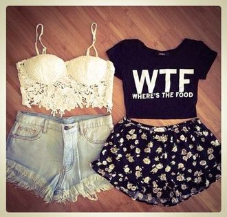 shirt crop sportswear black quite wtf wheres the food shirt fashion top crop tops cropped cropped sweater short style