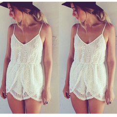Amiya Lace Playsuit