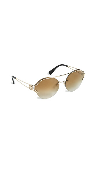 sunglasses round sunglasses pale gold brown