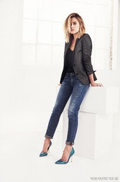 jacket,jeans,denim,lauren conrad,shoes,top