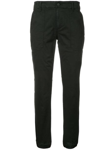 Vince cropped women spandex cotton black pants