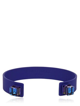cuff dark cuff bracelet blue dark blue silver jewels
