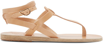 sandals leather beige shoes