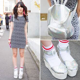 bag dress grunge tumblr silver red japanese japan asian asia swag yolo tumblr clothes silver shoes