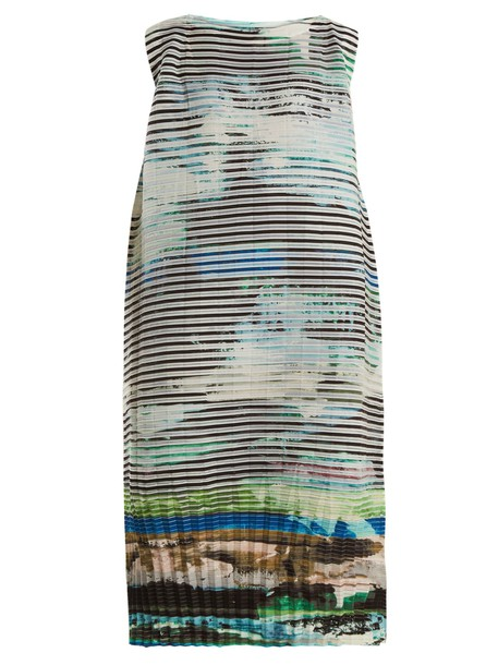 Issey Miyake dress sleeveless dress sleeveless print