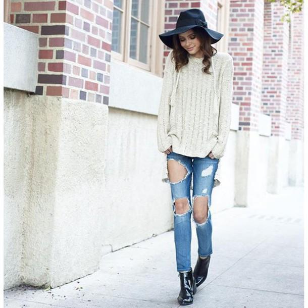 hat wide brim hat black hat fedora floppy hat black floppy hat bow trim wide  brim 7d3e1c79cb4