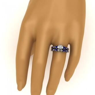 jewels evolees evolees.com beautiful heart shaped diamond engagement ring bridal set with blue sapphire heart diamond ring bridal ring set with blue sapphire heart shaped diamond wedding ring set