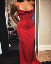 dress,prom dress,red dress,red prom dress,fitted prom dress,cowl neck,long dress,silk dress,helpfindthis,prom,girl,women,long prom dress,red,silky,satin fitted red maxi dress,red maxi dress,slinky maxi dress,red maxi dress open slit,formal dress,satin,silk,spaghetti strap,gown,evening dress,red carpet dress,long,ball gown dress