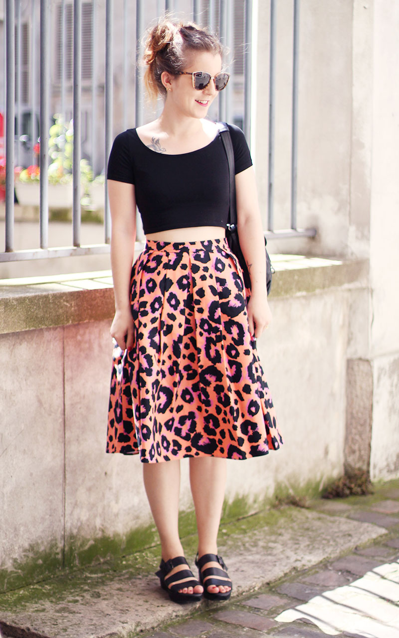 Leopard Skirt - Elodie in Paris