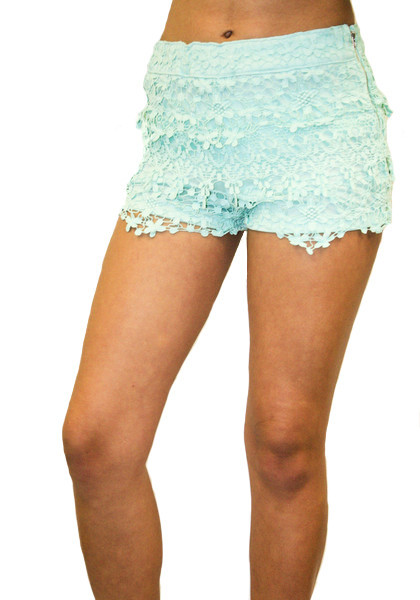 Floral Crochet Lace Shorts | Affordable Junior Clothing & Plus Sized Dresses | Shimmer