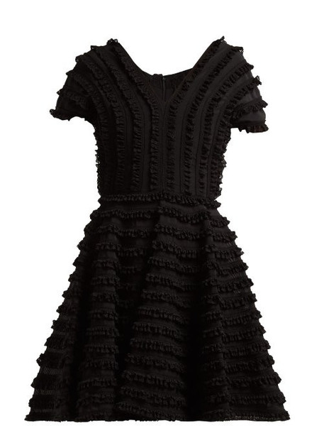 Emilio De La Morena - Zelda Ruffled Cocktail Dress - Womens - Black